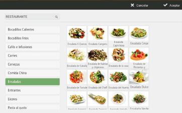 Modifica los platos, productos, precios o descuentos al momento.